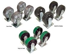 CASTERS FOR STEEL HOPPERS